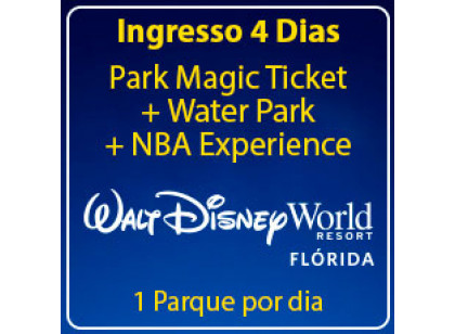 BLACK FRIDAY - Walt Disney World 4 Park Magic com Water Park + NBA Experience